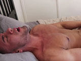 Michael-Santos-Jerks-His-Uncut-Cock-And-Cums from gayhoopla