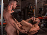 From TitanMen - Liam-Knox-And-Eddy-Ceetee-Fuck-In-The-Sling-Factory