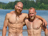 From islandstuds - Bearded-Muscle-Firefighters-Flex-Pee-And-Sweat-In-Hot-Duo-Action