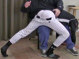 Eric Spanked In Baseball Gear