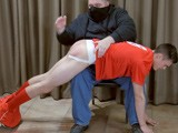From SpankingStraightBoys - Red-Uniform-Red-Butt
