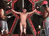 From badboybondage - 2-Doms-Tie-Slave-To-Frame