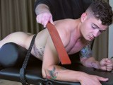Wes Strapped To The T.. - SpankingStraightBoys