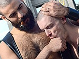 Leather-Big-Wolf-Vs-Axl-Black - Gay Porn - CazzoClub