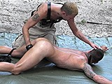 Twink-Tied-To-Stakes - Gay Porn - badboybondage