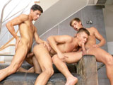 From BelAmiOnline - Gino-Mosca-Misha-Akunin-And-Kevin-Warhol
