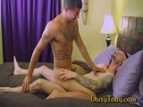 Gay Porn from dirtytony - Latino-Gets-Fucked-By-Otter