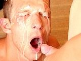 Gay Porn from ManButtered - Gay-Face-Craves-For-Heavy-Cum