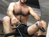Hairy-Gym-Work-Out from WankOffWorld