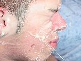 Gay Porn from ManButtered - Gay-Face-Heavily-Cummed