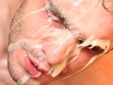 Gay Porn from ManButtered - Big-Jizz-On-Gay-Face