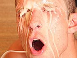 Gay Porn from ManButtered - Twink-Blowjob-And-Nasty-Facial