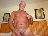 Gay Porn from daddyaction - Sexy-Silver-Daddy-Strokes-Off