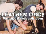 Gay Porn from VintageBareback - 70s-Leather-Orgy