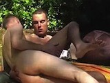 Gay Porn from UrbanBrits - Horny-Campers-Fucking-Harder
