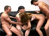 3-Guys-And-A-Woman from WankOffWorld