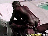 Two Hot Black Studs - Gay Gangsta