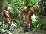 Gay Porn from BrazilianStudz - Jungle-Fuck-3some