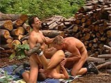 Gay Porn from StrongMen - Muscle-Threesome