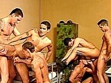 Gay Porn from mountequinox - Six-Military-Guys-Fucking-6