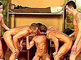 Gay Porn from mountequinox - Six-Military-Guys-Fucking-A