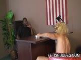 Gay Porn from FetishDudes - Ebony-Stud-Humiliating-A-Dilf
