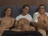 Gay Porn from GayLifeNetwork - 3-Guys-Masturbate