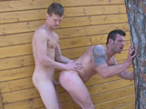 Gay Porn from outinpublic - Hot-Studs-Fuck-Outdoors-Part-2
