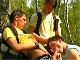 Three Boys Outdoors - Strong Men